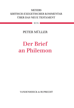Der Brief an Philemon von Müller,  Peter
