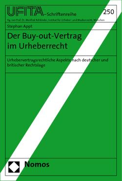 Der Buy-out-Vertrag im Urheberrecht von Appt,  Stephan