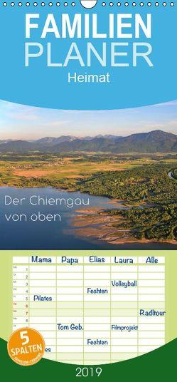 Der Chiemgau von oben – Familienplaner hoch (Wandkalender 2019 , 21 cm x 45 cm, hoch) von Ghirardini,  Tanja