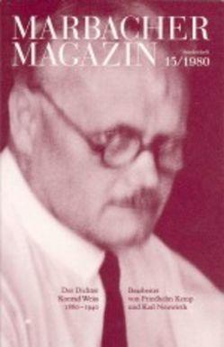 Der Dichter Konrad Weiss. 1880-1940 von Kemp,  Friedhelm, Neuwirth,  Karl