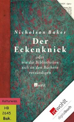 Der Eckenknick von Baker,  Nicholson, Frielinghaus,  Helmut, Höbel,  Susanne