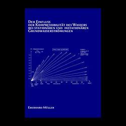 Der Einfluss der Kompressibilität des Wassers bei stationären und instationären Grundwasserströmungen von Müller,  Eberhard