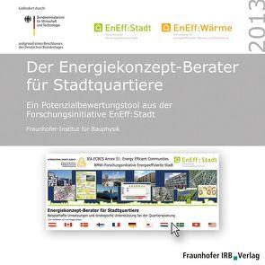 Der Energiekonzept-Berater für Stadtquartiere. von Budde,  Eike, Erhorn,  Hans, Erhorn-Kluttig,  Heike, Weber,  Juri, Wössner,  Simon