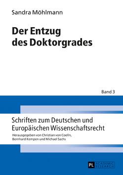 Der Entzug des Doktorgrades von Möhlmann,  Sandra