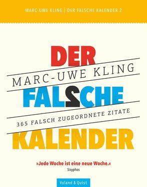 Der falsche Kalender 2 von Kling,  Marc-Uwe