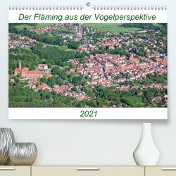 Der Fläming aus der Vogelperspektive (Premium, hochwertiger DIN A2 Wandkalender 2021, Kunstdruck in Hochglanz) von Hagen,  Mario