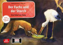 Der Fuchs und der Storch. Eine Fabel von Äsop. Kamishibai Bildkartenset. von Aesop, Lefin,  Petra, Lefin-Kirsch,  Monika