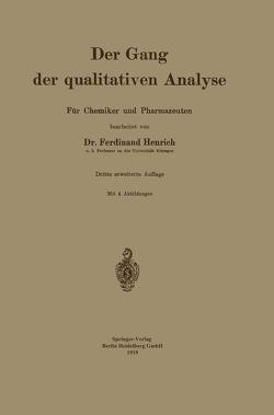 Der Gang der qualitativen Analyse von Henrich,  Ferdinant