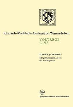 Der grammatische Aufbau der Kindersprache von Jakobson,  Roman