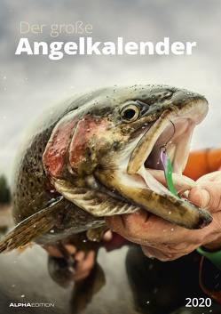 Der große Angelkalender 2020 – Bildkalender (30 x 42) – mit Zusatzinformationen aus der Anglerwelt – Wandkalender von ALPHA EDITION