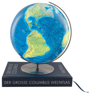 DER GROSSE COLUMBUS WELTATLAS mit GLOBUS