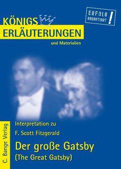 Der große Gatsby – The Great Gatsby von F. Scott Fitzgerald. Textanalyse und Interpretation. von Fitzgerald,  F. Scott, Frausing Vosshage,  Frauke