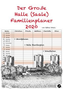 Der Große Halle (Saale) Familienplaner von Schulz,  Sabine