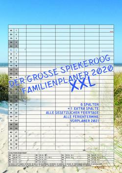 Der grosse Spiekeroog Familienplaner 2020 XXL von Scheerer,  Andrea