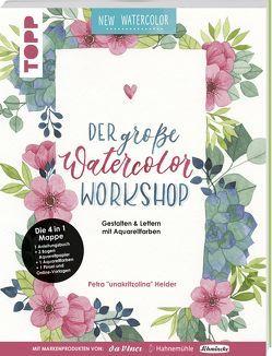Der große Watercolor Workshop. Gestalten und Lettern mit Aquarell-Farben by unakritzolina von Heider,  Petra