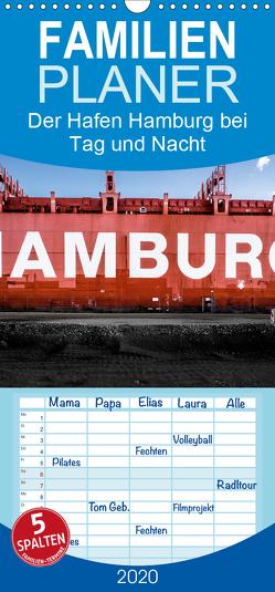 Der Hafen Hamburg bei Tag und Nacht – Familienplaner hoch (Wandkalender 2020 , 21 cm x 45 cm, hoch) von Voss,  Matthias