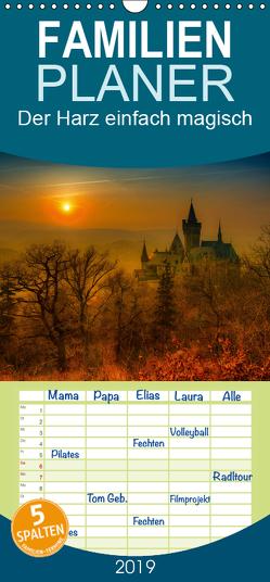 Der Harz einfach magisch – Familienplaner hoch (Wandkalender 2019 , 21 cm x 45 cm, hoch) von Wenske,  Steffen