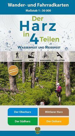 Der Harz in 4 Teilen von Harzklub e.V., Schmidt,  Thorsten, Spachmüller,  Bernhard