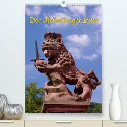 Der Heidelberger Löwe (Premium, hochwertiger DIN A2 Wandkalender 2021, Kunstdruck in Hochglanz) von Burkhardt,  Bert