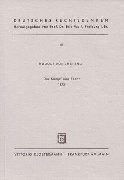 Der Kampf ums Recht (1872) von Hollerbach,  Alexander, Jhering,  Rudolf von