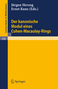 Der kanonische Modul eines Cohen-Macaulay-Rings von Herzog,  J, Kunz,  E.