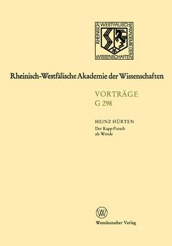 Der Kapp-Putsch als Wende von Hürten,  Heinz