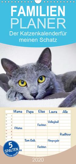 Der Katzenkalender für meinen Schatz – Familienplaner hoch (Wandkalender 2020 , 21 cm x 45 cm, hoch) von CALVENDO