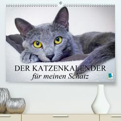 Der Katzenkalender für meinen Schatz (Premium, hochwertiger DIN A2 Wandkalender 2020, Kunstdruck in Hochglanz) von CALVENDO