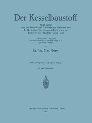 Der Kesselbaustoff von Moser,  Max