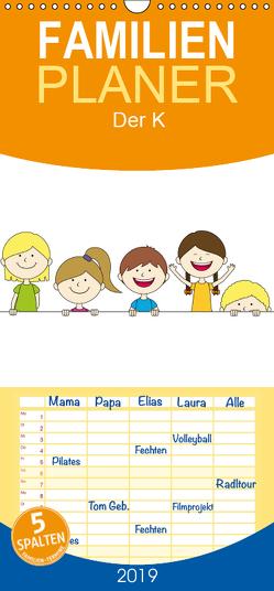 Der Kinderkalender – Familienplaner hoch (Wandkalender 2019 , 21 cm x 45 cm, hoch) von FloBo