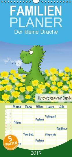 Der kleine Drache – Familienplaner hoch (Wandkalender 2019 , 21 cm x 45 cm, hoch) von Eisendle,  Carmen