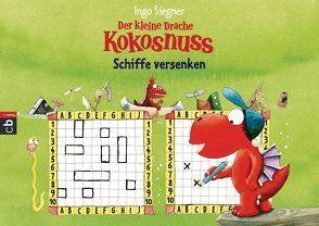 Der kleine Drache Kokosnuss – Spieleblock – Schiffe versenken von Siegner,  Ingo