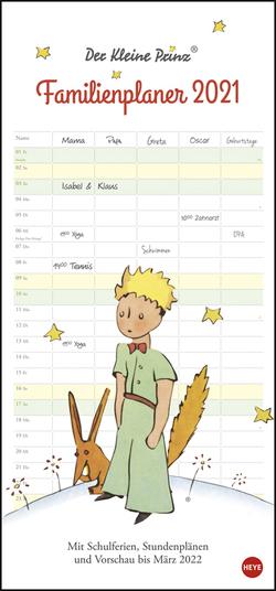 Der Kleine Prinz Familienplaner Kalender 2021 von Heye