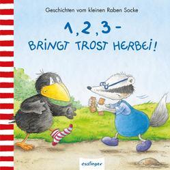 Der kleine Rabe Socke: 1, 2, 3 – bringt Trost herbei! von Moost,  Nele, Rudolph,  Annet