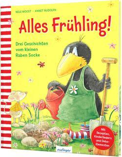 Der kleine Rabe Socke: Alles Frühling! von Moost,  Nele, Rudolph,  Annet