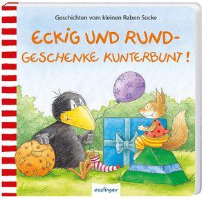 Der kleine Rabe Socke: Eckig und Rund – Geschenke kunterbunt! von Moost,  Nele, Rudolph,  Annet