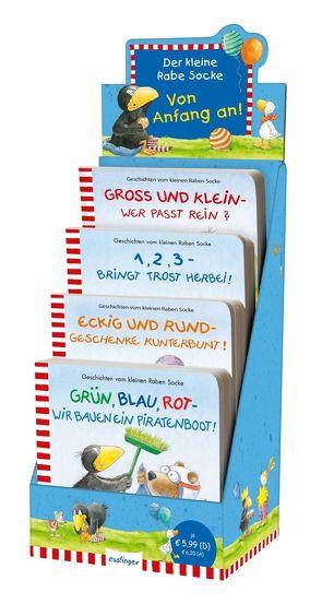 Der kleine Rabe Socke: Erste Pappebücher zu Zahlen, Farben, Größen und Formen von Moost,  Nele, Rudolph,  Annet