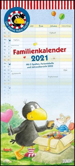 Der kleine Rabe Socke Familienkalender 2021 – Wandkalender – Familienplaner mit 5 Spalten – Format 22 x 49,5 cm von Moost,  Nele, Rudolph,  Annet
