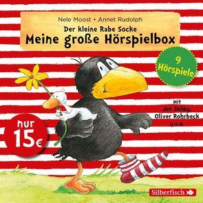 Der kleine Rabe Socke – Meine große Hörspielbox (Der kleine Rabe Socke) von Delay,  Jan, Diverse, Moost,  Nele, Rohrbeck,  Oliver, Rudolph,  Annet