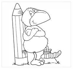 Der kleine Rabe Socke: Stempel Stift von Rudolph,  Annet