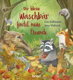 Der kleine Waschbär findet neue Freunde – ein Bilderbuch für Kinder ab 2 Jahren von Käßmann,  Lea, Walczyk,  Jana
