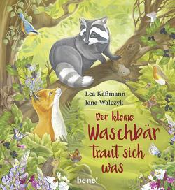 Der kleine Waschbär traut sich was – ein Bilderbuch für Kinder ab 2 Jahren von Käßmann,  Lea, Walczyk,  Jana