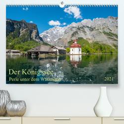 Der Königssee Perle unter dem Watzmann (Premium, hochwertiger DIN A2 Wandkalender 2021, Kunstdruck in Hochglanz) von Selection,  Prime