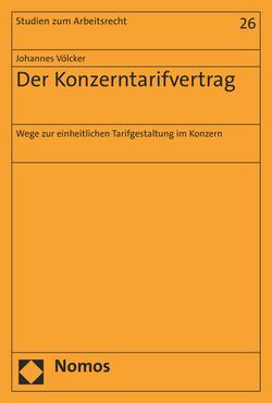 Der Konzerntarifvertrag von Völcker,  Johannes