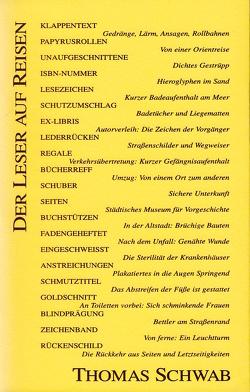 Der Leser auf Reisen von Leyn,  Urs van der, Schwab,  Thomas