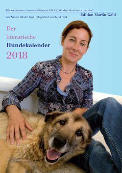 Der literarische Hundekalender 2018 von Brand,  Flinde, Körner,  Charlotte