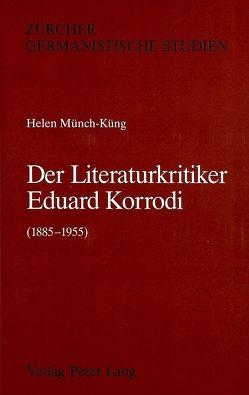 Der Literaturkritiker Eduard Korrodi (1885-1955)