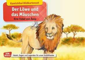 Der Löwe und das Mäuschen. Eine Fabel von Äsop. Kamishibai Bildkartenset. von Aesop, Lefin,  Petra, Lefin-Kirsch,  Monika