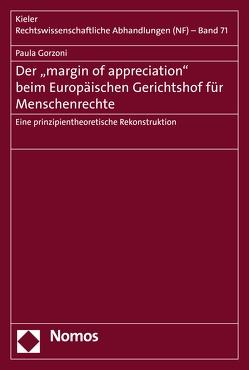 """Der """"margin of appreciation"""" beim Europäischen Gerichtshof für Menschenrechte von Gorzoni,  Paula"""
