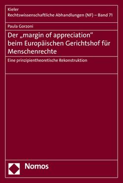 Der 'margin of appreciation' beim Europäischen Gerichtshof für Menschenrechte von Gorzoni,  Paula
